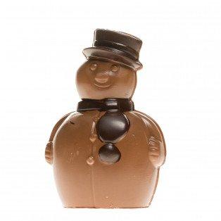 Bonhomme de neige chocolat au lait, 16 cm