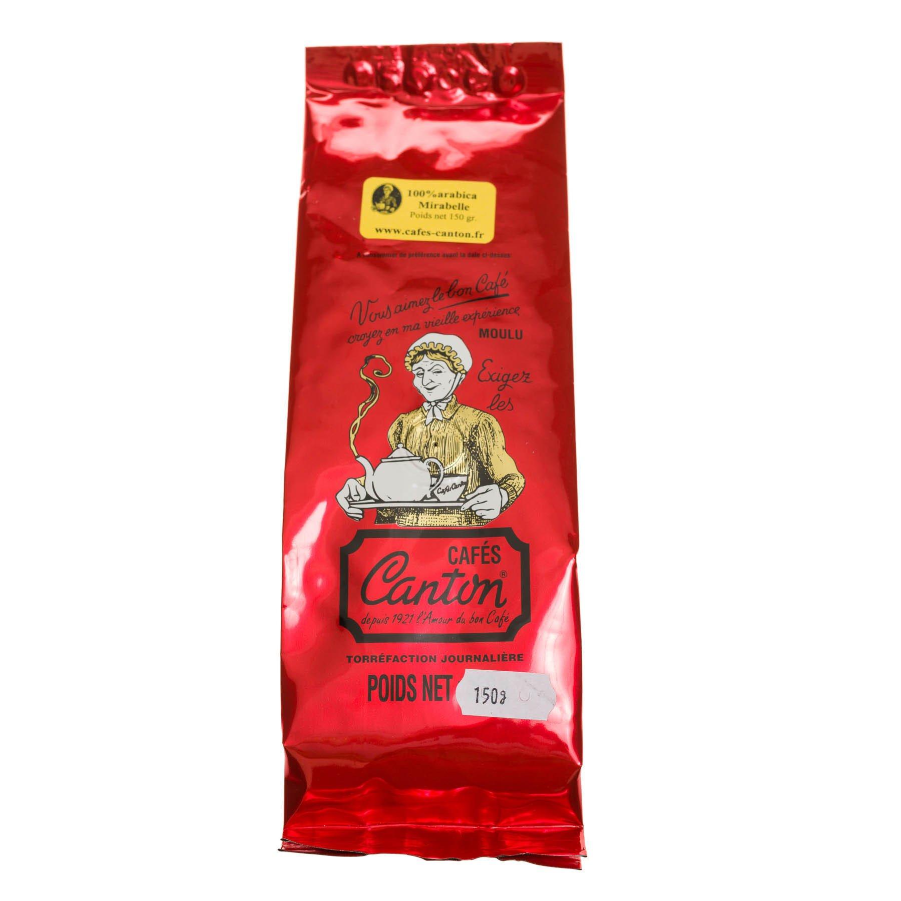 Café moulu aromatisé à la mirabelle, 150gr