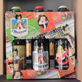 """Coffret 6 bières l'Alsacienne """"Sans culotte"""""""
