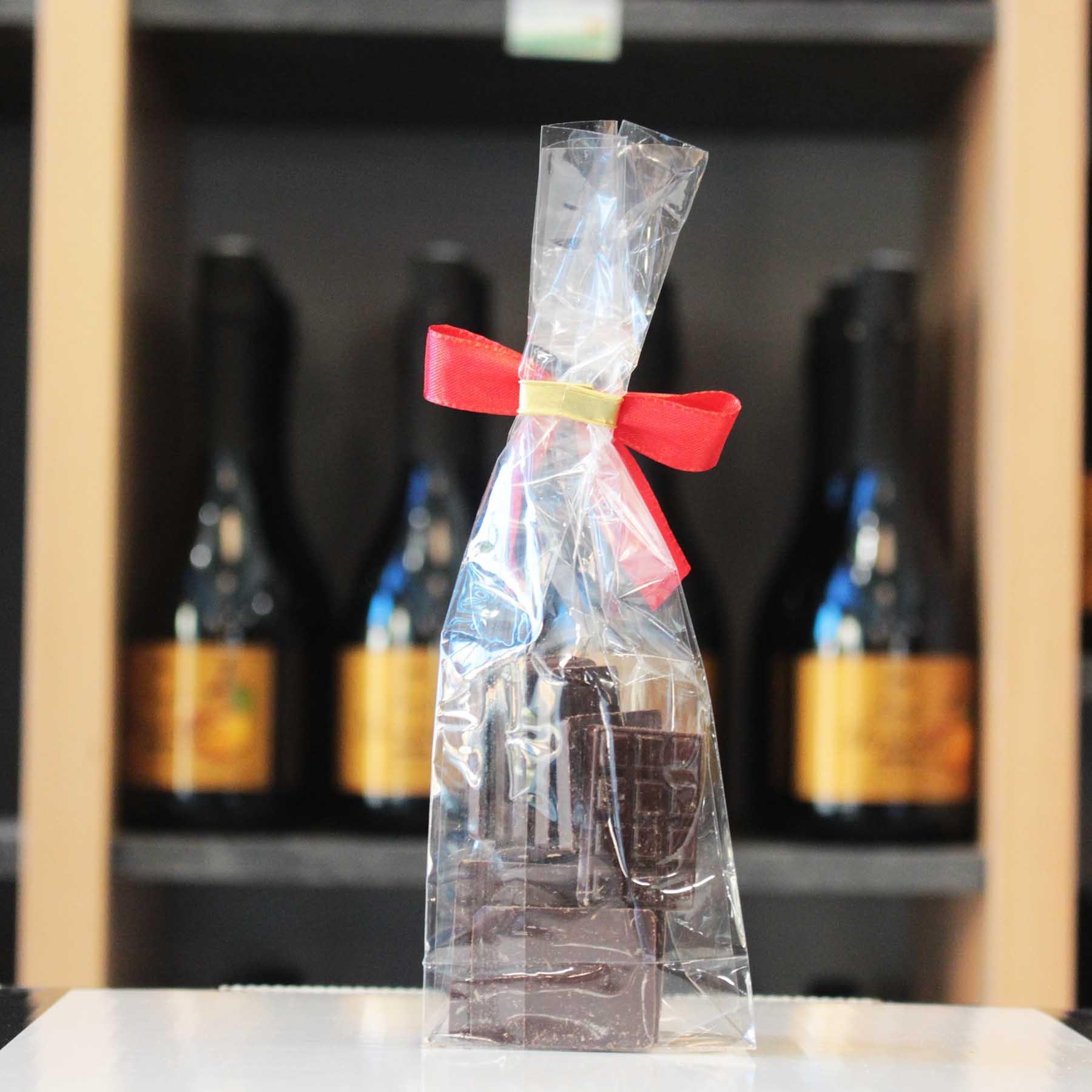 Mini-tablettes chocolat noir sans sucre, 90g