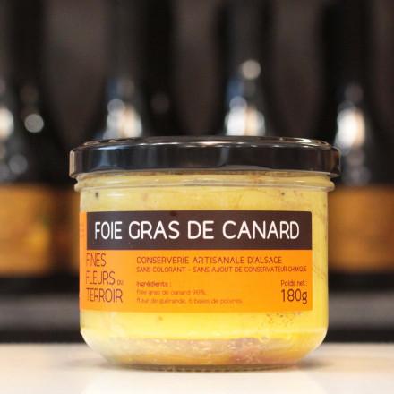 Foie gras de canard entier, 180g
