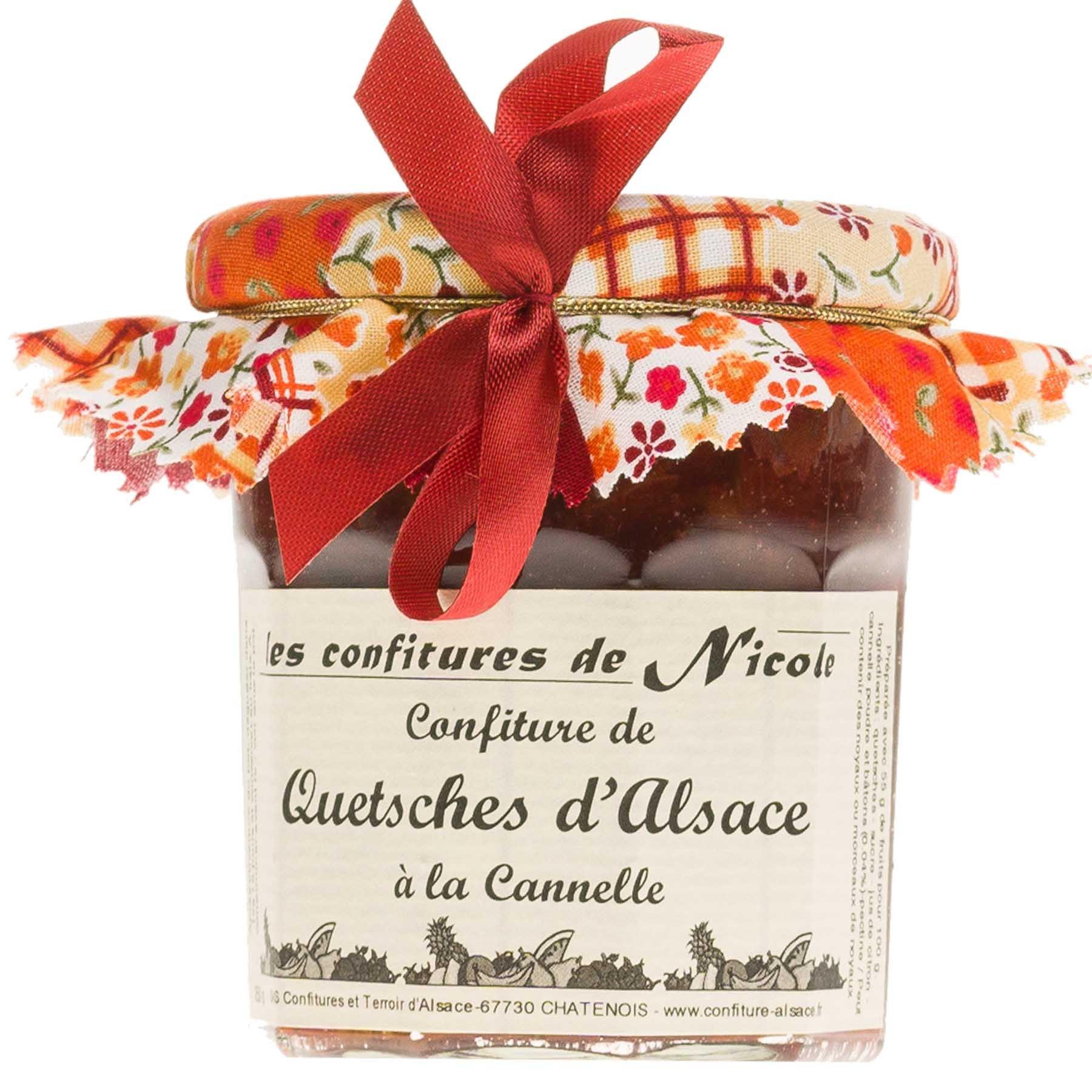 Confiture de Quetsches d'Alsace à la Cannelle, 250g