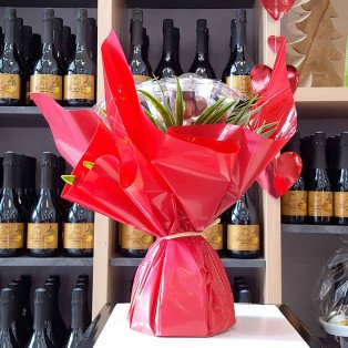Bouquet 7 tiges en chocolats, 250g