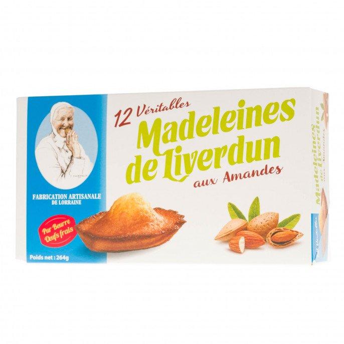 Boîtes de 12 Madeleines de Liverdun aux amandes, 264g