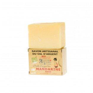 Savon artisanal à l'huile d'argan Bio Mandarine rouge