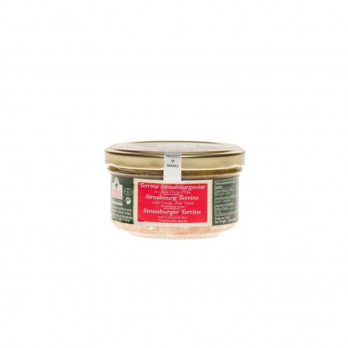 Terrine strasbourgeoise au foie gras d'oie, 140gr