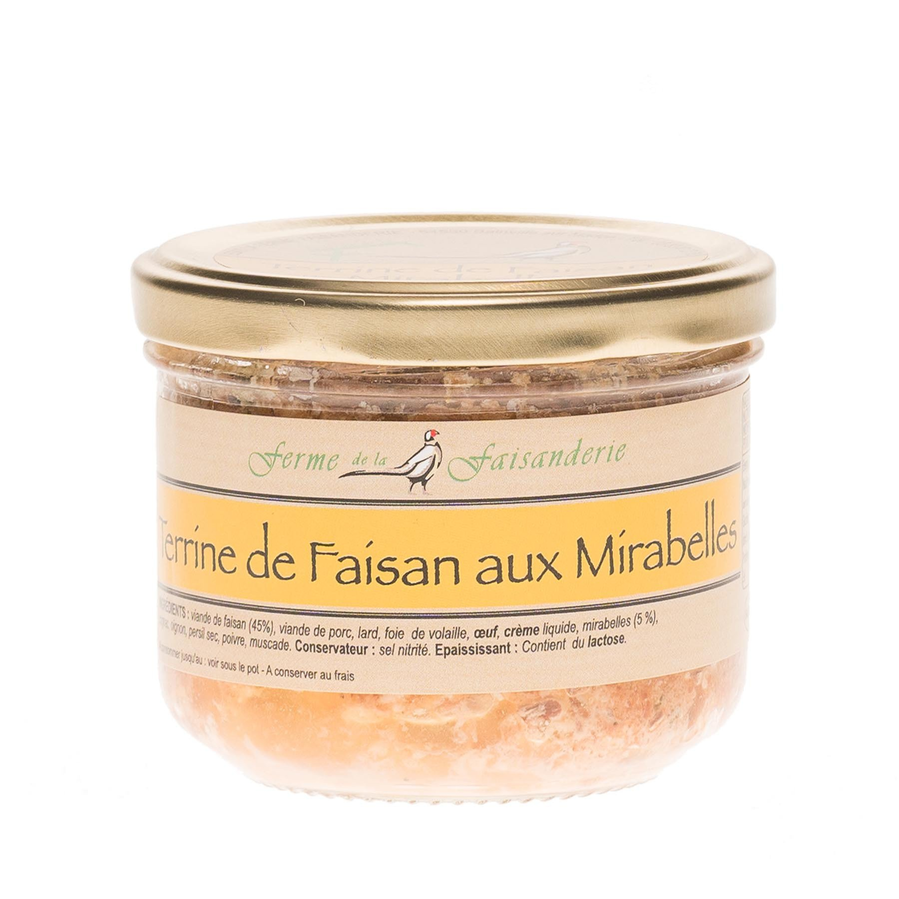 Terrine de faisan aux mirabelles, 200gr