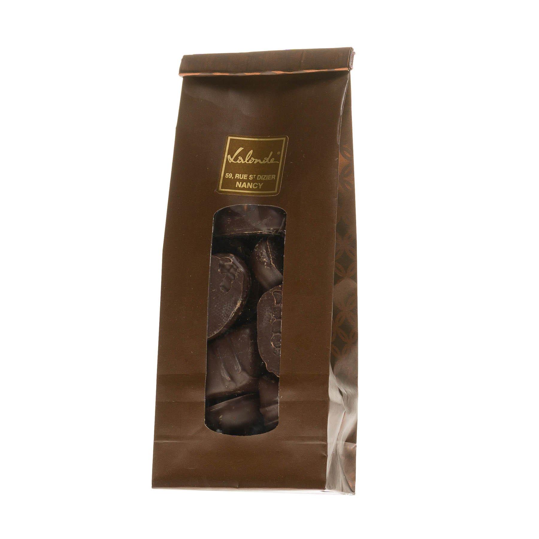 Chocolat à l'eau de vie Mirabelle, Framboise, Kirsch