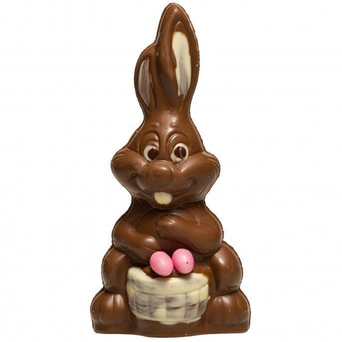 Le lapin gourmand en chocolat