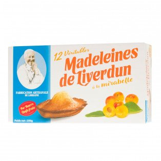 Boîte des Véritables Madeleines de Liverdun à la mirabelle, 250 gr