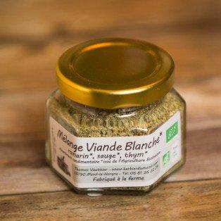 Mélange pour Viande Blanche Herbes Bio, 20 gr