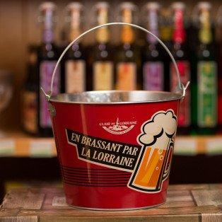 """Seau à bières """"En Brassant par la Lorraine"""" avec Décapsuleur Intégré"""
