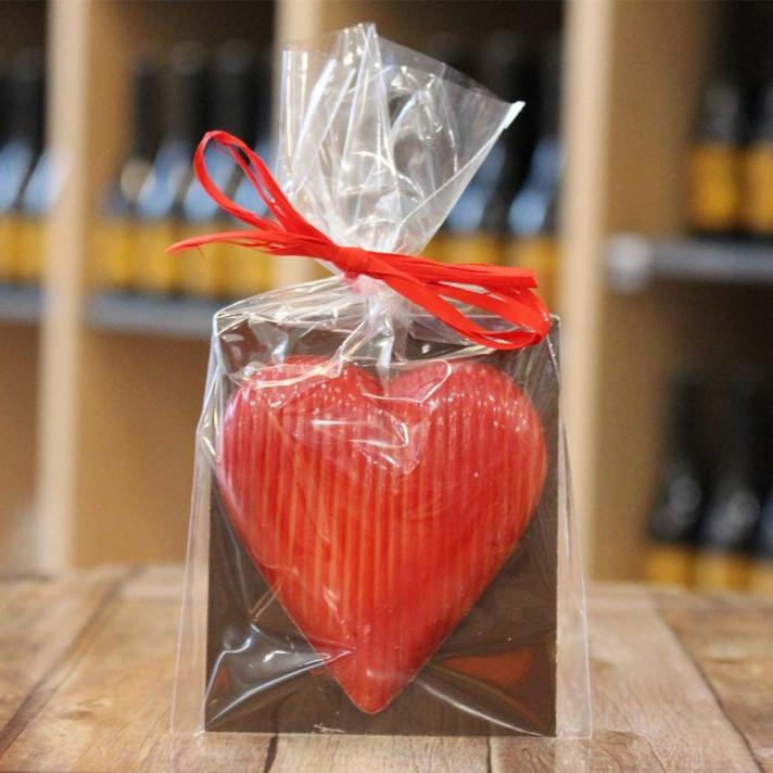 Cœur chocolat praliné feuilleté, 50gr
