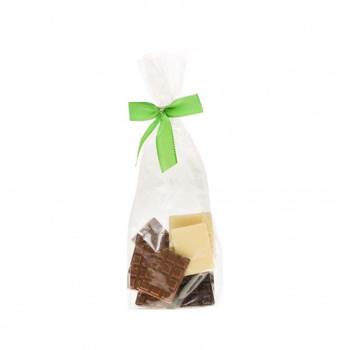 Mini-tablettes assortiment chocolat noir, lait et blanc, 90 gr