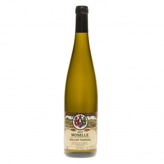 Vin blanc de Moselle Muller Thurgau, 75 cl 11.50° (VDQS)