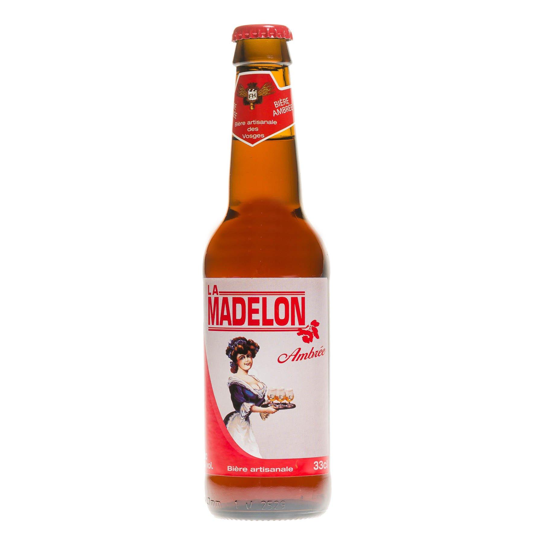 Bière La Madelon Ambrée,  33 cl 5.5°