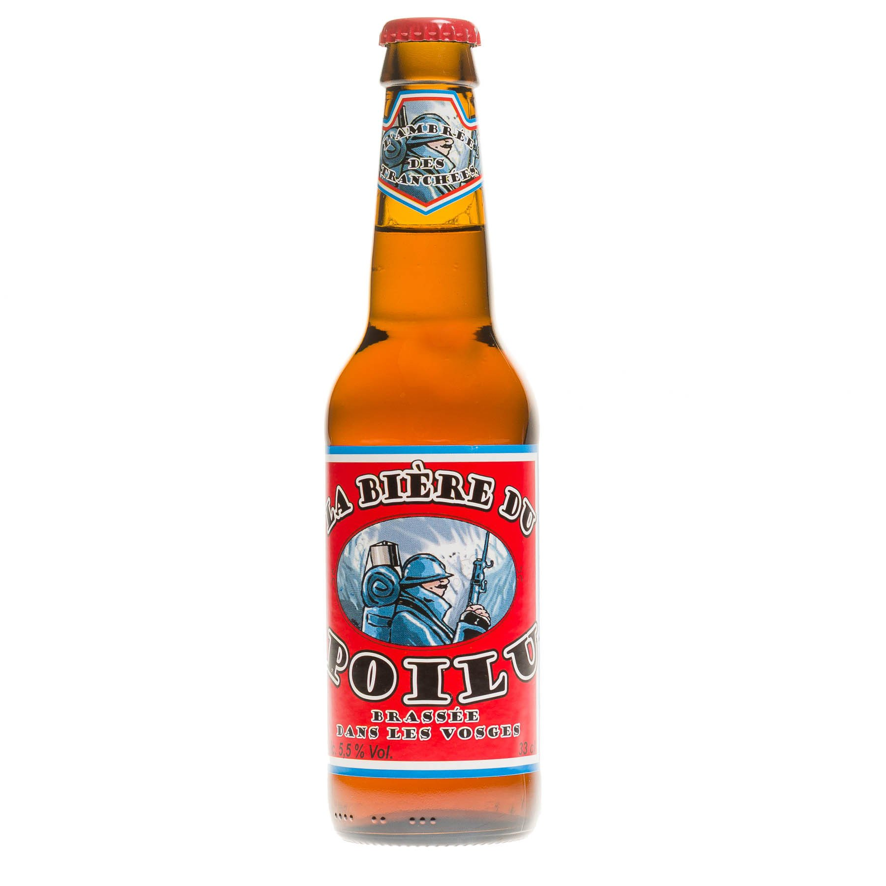 Bière du Poilu, 33 cl 5.5°
