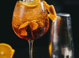 Cocktail sans alcool orange sanguine bergamote