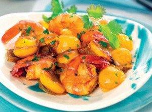 Curry de Gambas aux Mirabelles de Lorraine