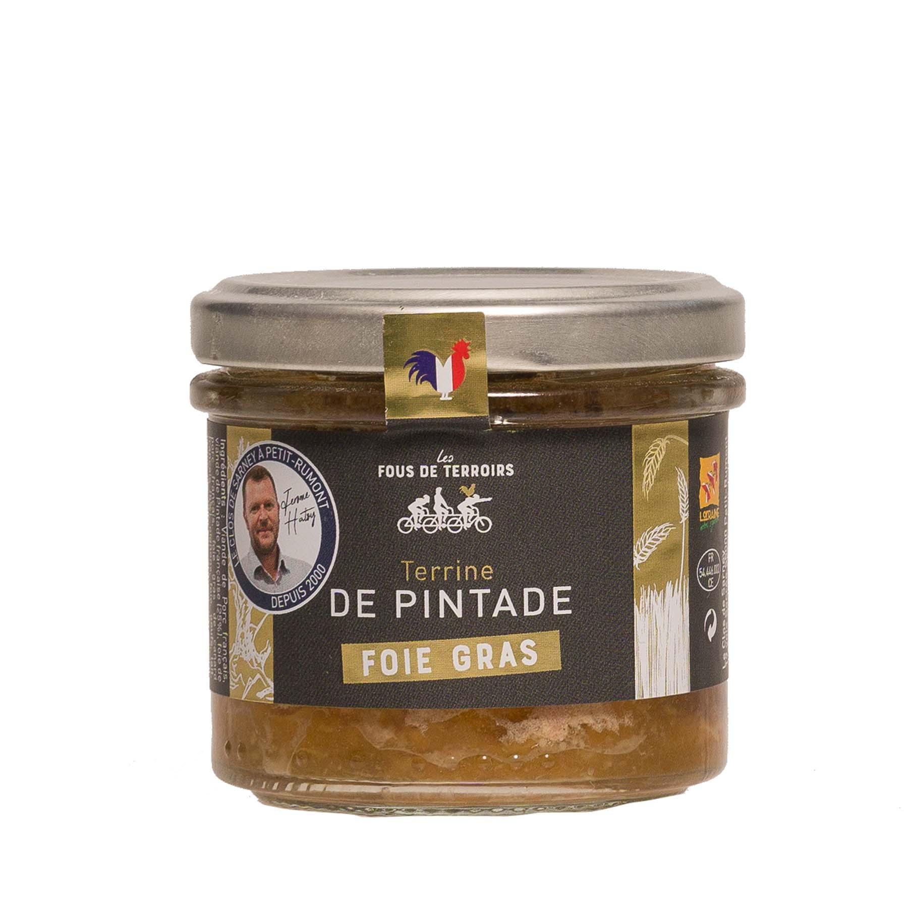 Terrine Pintade et Foie gras, 100gr