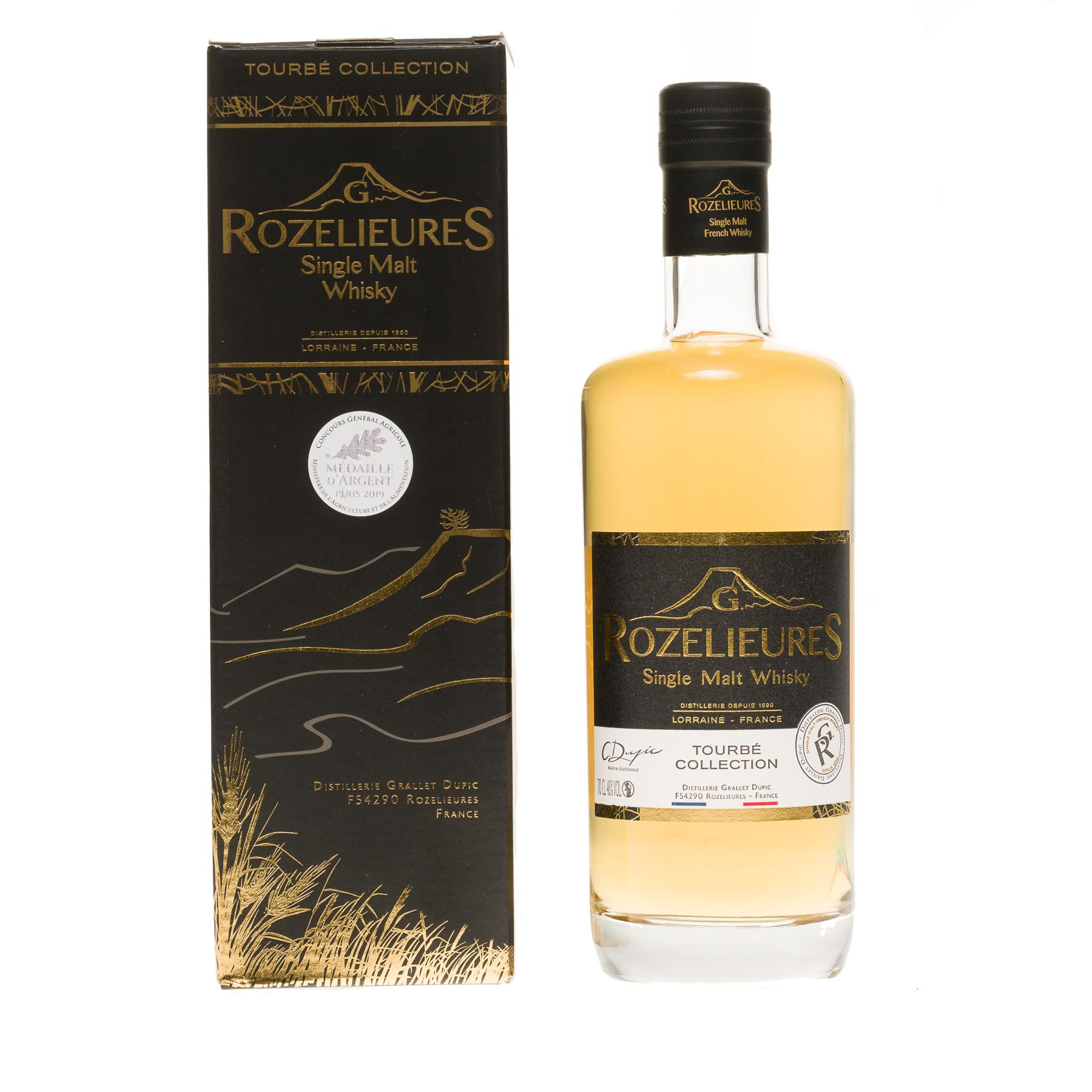 Whisky single malt G. Rozelieures Tourbé collection, 46°