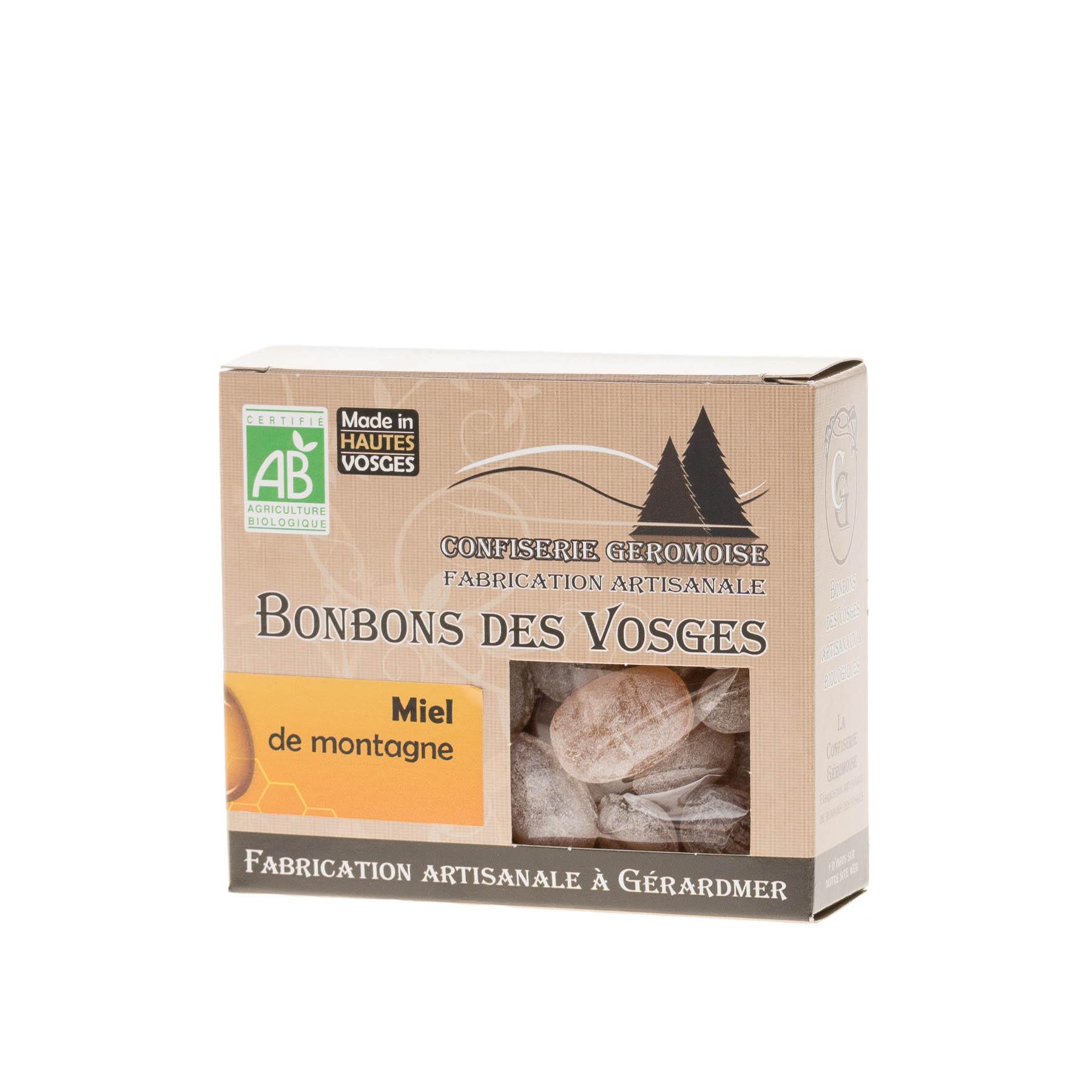 Bonbons des Vosges BIO au Miel de Montagne, 130g