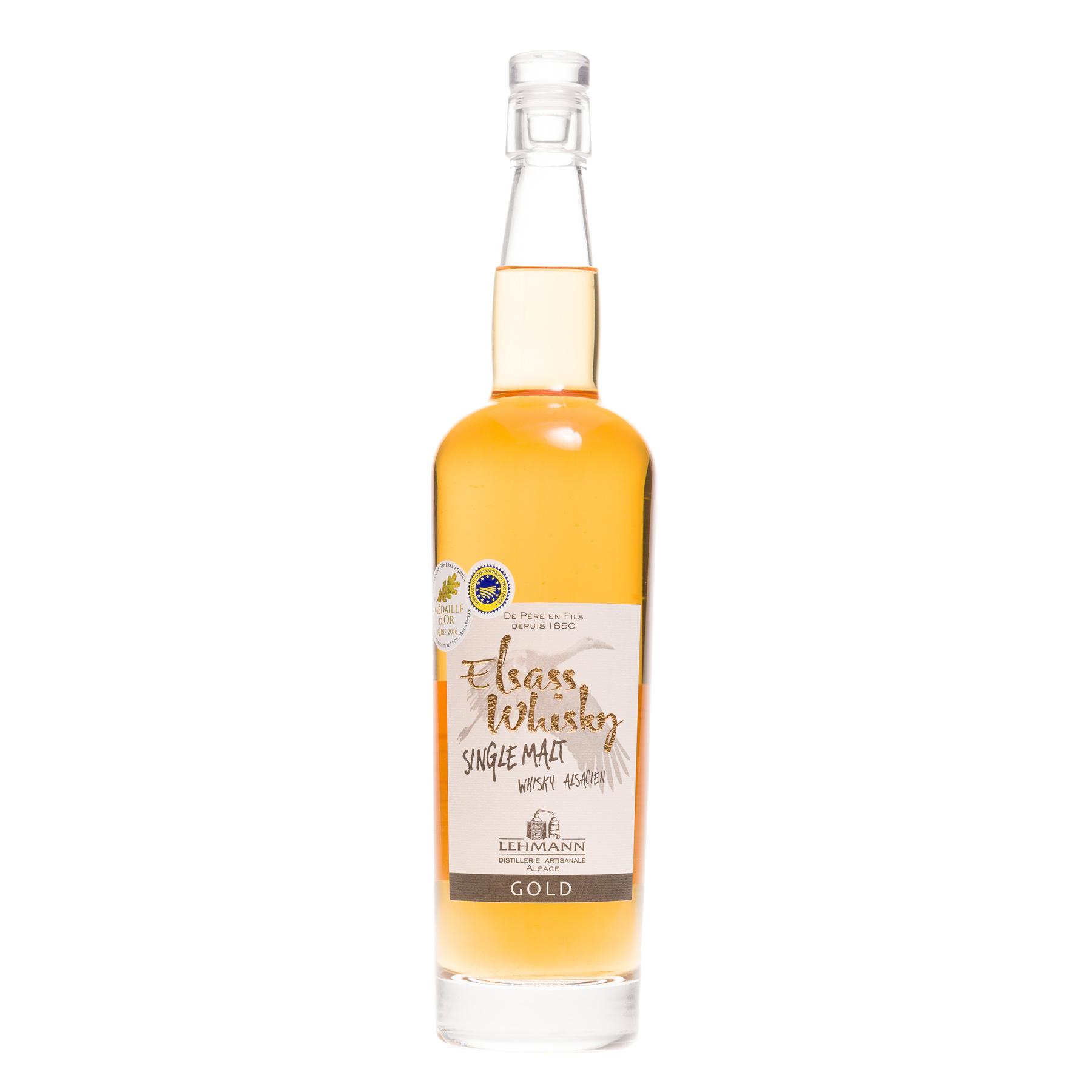 Whisky Alsacien Elsass Gold single malt 40°