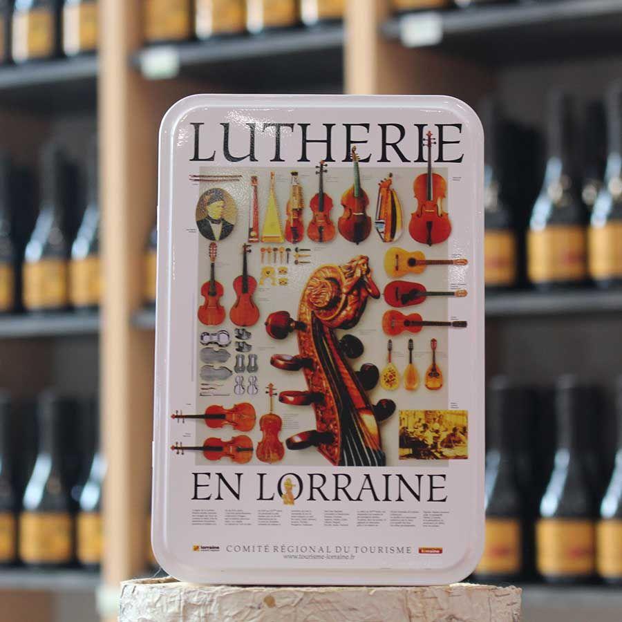 Boîte métal à sucre décoration Lorraine