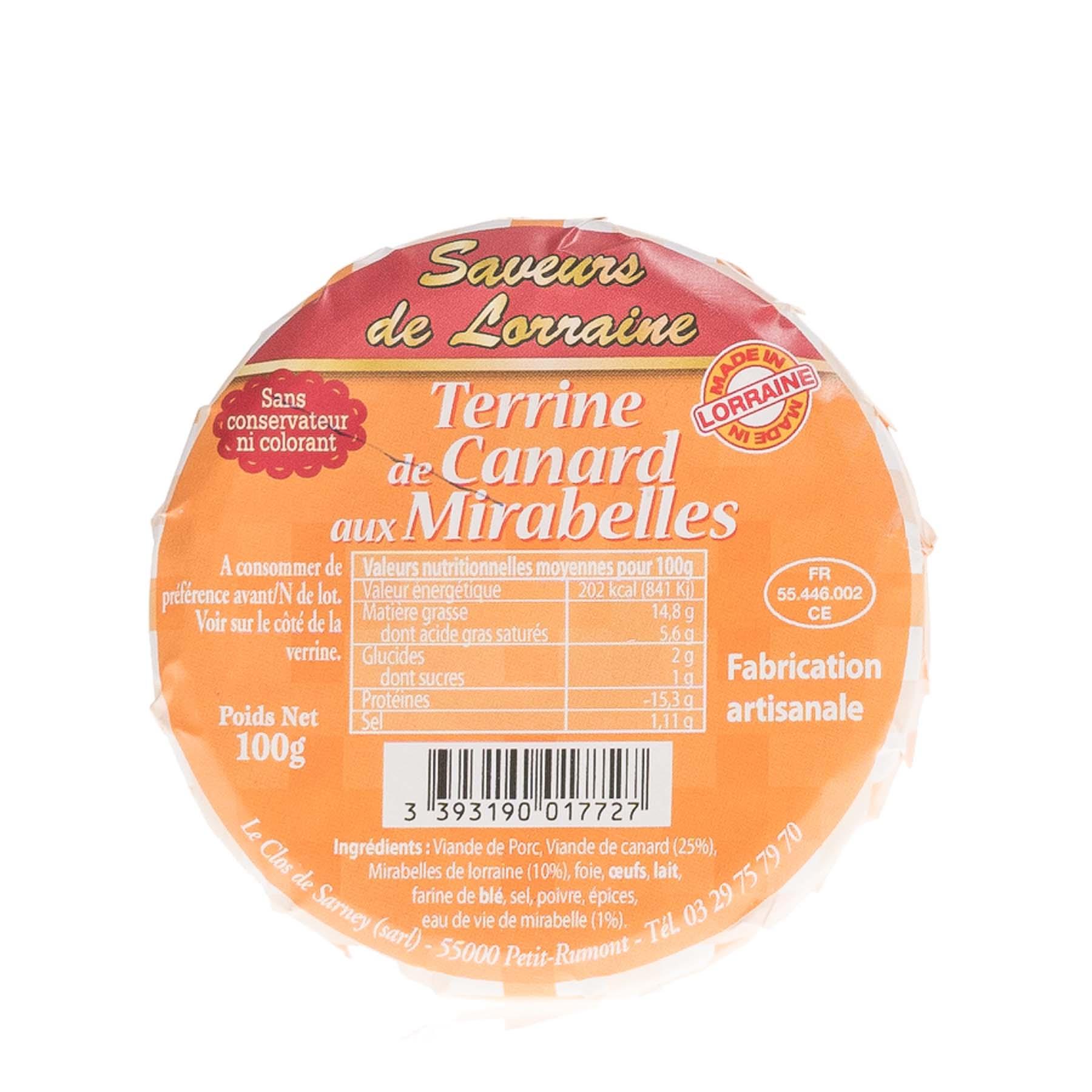Terrine de Canard à la Mirabelle de Lorraine