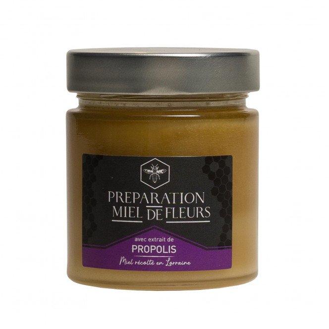 Miel de fleurs de Lorraine et propolis, 250gr