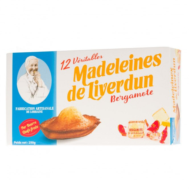 Madeleines de Liverdun à la bergamote, 250g