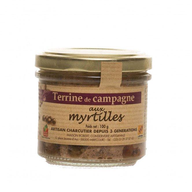 Terrine de campagne aux myrtilles