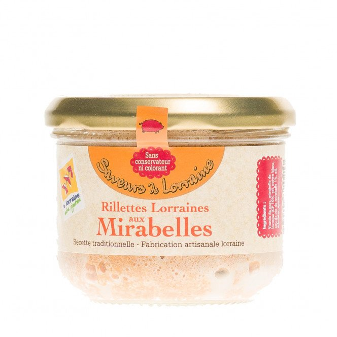 Rillettes de porc aux mirabelles, 200 gr