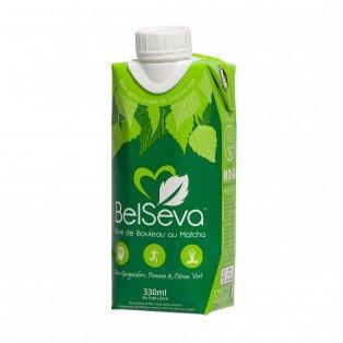 Sève de bouleau avec Matcha Thé Vert Bio, 330ml