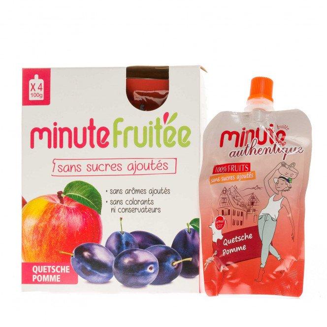 Compote Minute fruitée quetsche et pomme