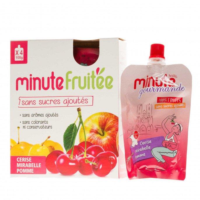 Compote Minute fruitée Cerise, Mirabelle et Pomme