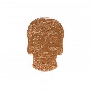 Plaque Tête de mort en chocolat d'Halloween