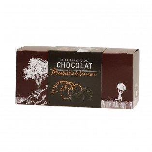Fins palets de chocolat liqueur mirabelle