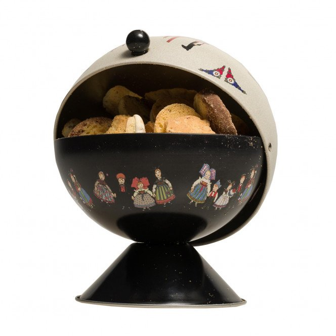 Sucrier garni d'un assortiment de petits gâteaux Oncle Hansi, 250g