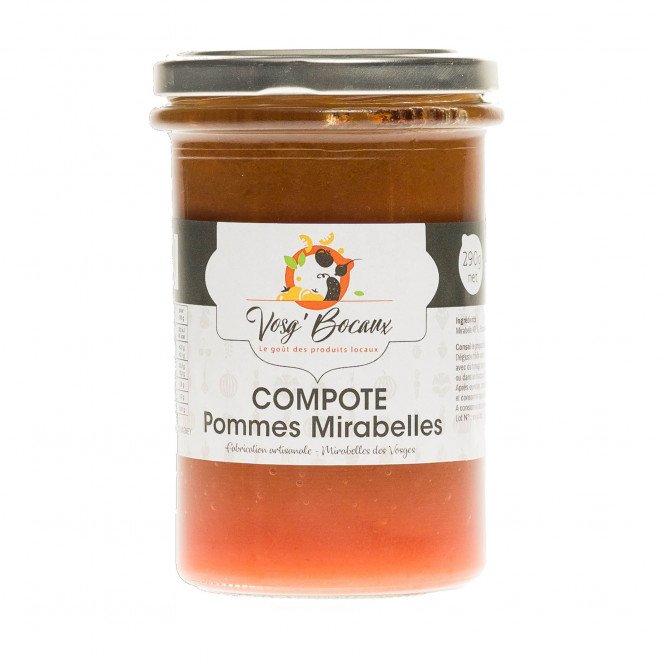 Compote pommes et mirabelles, 290g