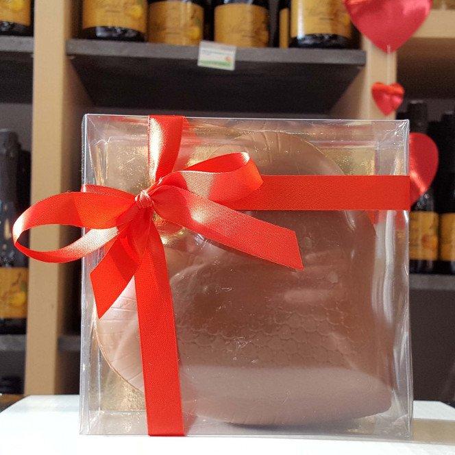 Bonbonnière coeur chocolat lait garnie, 315g