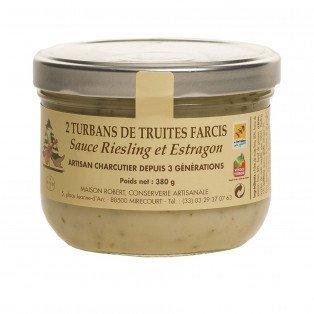 Turbans de truites farcis sauce Riesling et Estragon