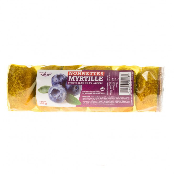 Nonnettes fourrées à la myrtille, 150 g