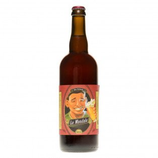 Bière ambrée La Mandale, 75cl 5.5°