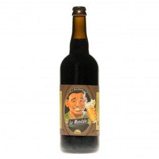 Bière brune La Mandale, 75cl 8.5°