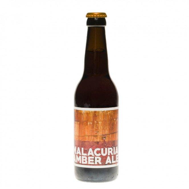 Bière ambrée Malacuria BIO, 33cl 7°