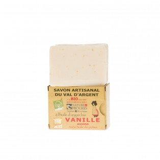 Savon artisanal à l'huile d'argan Bio Vanille et avoine
