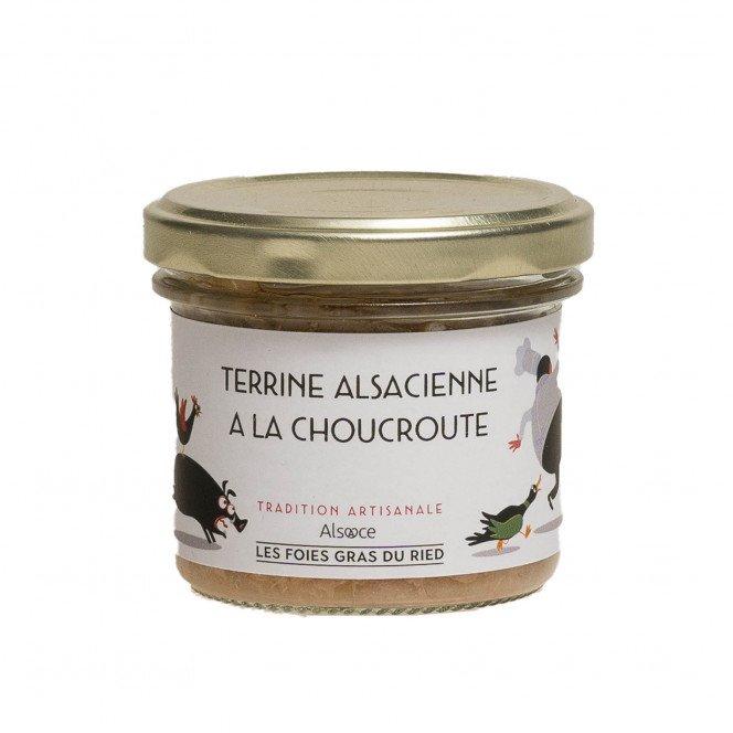 Terrine alsacienne à la choucroute, 90gr