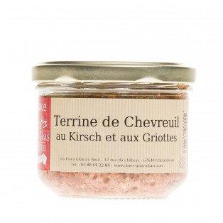 Terrine de chevreuil au kirsch et aux griottes, 180gr