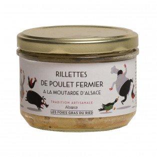Rillettes de poulet à la moutarde d'Alsace, 180gr